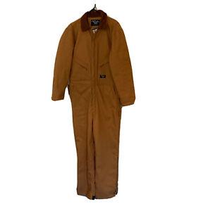 Walls Workwear Coveralls Tan Canvas Duck Insulated Men's Size Medium R 38-40 EUC