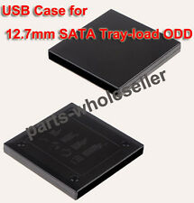 USB 2.0 External Slim Caddy Case For Laptop DVDRW DVD-W Combo 12.7mm SATA Drive