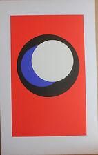 CLAISSE Geneviève - Sérigraphie S/N abstrait géométrique op art 1967 cercles