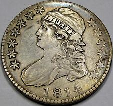 1814 O-108 E/A Capped Bust Half Dollar Nice EF... Original Antique Tone!  NICE!!