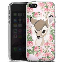 Apple iPhone 5s Silikon Hülle Case - Bambi Flower Child