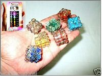 Orgone Chakra 7 Set Pyramid Cube Free Booklet Jet INternational Crystal Therapy