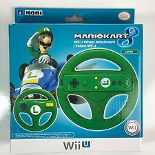 Nintendo MarioKart 8 Green Luigi Wii U Hori Steering Wheel Attachment No Remote