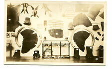 Vintage RPPC Postcard MORSE MUSEUM Warren NH display ELEPHANT parts taxidermy