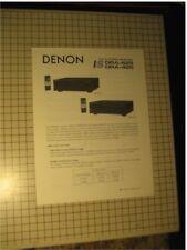 Denon DRA-625, DRA-425 Original Stereo Receiver Brochure