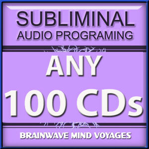 ANY 100 CDs AMAZING SUBLIMINAL HYPNOSIS SALE Create Lasting Positive CHANGE NOW