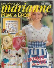 Les idées de Marianne N°30 juin 1997 point de croix , tricot