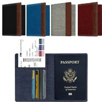 Premium Fabric Passport Holder Wallet Case Cover RFID Blocking Travel Wallet