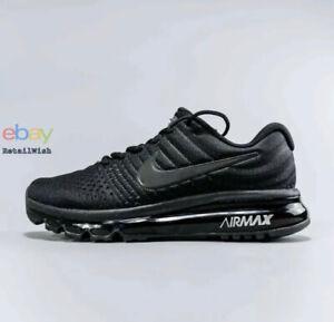 Nike Air Max 2017 Size 7-11 Men's Running Shoes Triple Black 849559-004