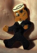 Vtg 1940'S Patriotic Novelty 4th July Pin, Navy Boy, Hand Made Folk Art Jewelry