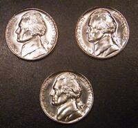 1965 1966 1967 SMS Jefferson Nickel Run 3 Gem Special Mint Run 3 US Coin Set