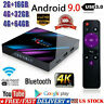 H96 MAX Smart TV BOX Android 9.0 OS 4G RAM 32/64GB Quad Core 1080p 4K LED Z0F8Y