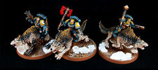 Warhammer 40k Space Wolves Thunderwolf Cavalry Painted