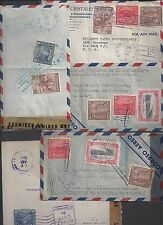 SALVADOR 1940s COLLECTION OF SIX WAR TIME CENSORED COVERS ALL TO US NEAT & DIFF