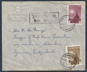"""Thailand to Switzerland 1958 nice Air Mail cover from """"SAMUTPRAKAN"""""""