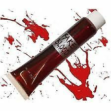 Fake Blood Halloween Vampire Zombie Face Make Up Fancy Dress Theatrical Fun