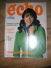 Echo de la mode N° 10 1972 Patron Mode vintage Couture Ouvrages tricot Lingerie