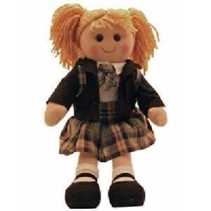 Brand New Hopscotch Childs Toy Rag doll woollen hair soft body ragdoll Madison