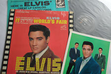 ELVIS Original_1963_1st PRESS__LIVING STEREO__World's Fair LP__BONUS PHOTO__EX