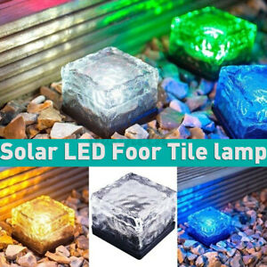 Colorful LED Solar Power Buried Light Ground  Outdoor Path Garden Deck