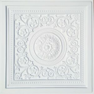 """Grid System, Pop In, 24"""" x 24"""", 3D, PVC Ceiling Tiles MAJESTY White"""