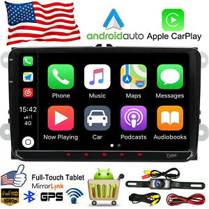 Android 10 RADIO Car Stereo Carplay Bluetooth GPS for VW Volkswagen JETTA PASSAT