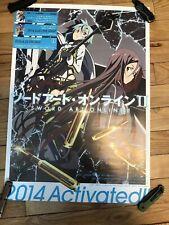 Sword art online Rare Japan Retail poster OOP Original SAO GGO Anime New