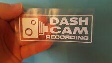 DASH CAM RECORDING DECAL STICKER SIGN CAR VAN WINDOW REVERSE OR NORM WHITE x2 mr
