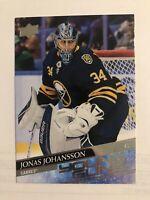 Jonas Johansson 2020-21 Upper Deck Young Guns #228 Buffalo Sabres RC