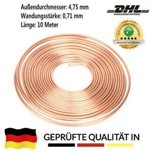 10m Bremsleitung Kupfer Ø 4,75 mm Kunifer/Nickel Meterware Bremsrohr PKW DE