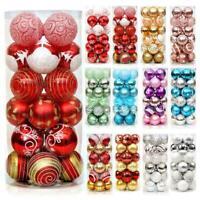 24X Weihnachtsbaum 6CM Weihnachtskugeln Dekor Kugeln DIY Party Ornament F2Y3