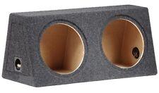 Doppel Basskiste für 2x30cm Subwoofer Bass MDF Leergehäuse grau 2x 30L