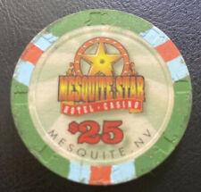 Mesquite Star, Mesquite $25 Casino Chip Sharp Edges