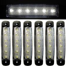 6x 12V White Indicator Side Rear Marker Lights Lamps 6 LED Caravan HGV Van