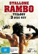 RAMBO TRILOGY: FIRST BLOOD / PART II / RAMBO III Sylvester Stallone 3DVD NEW