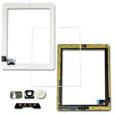 Replacement Touch Screen Digitizer FRAME BEZEL Home Button Flex For iPad 2 White