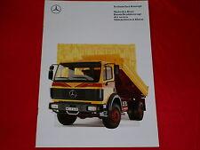 MERCEDES MK mittelschwere Klasse Baustellenfahrzeuge Prospekt von 1991