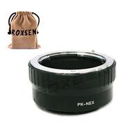 Pentax K PK lens to Sony E Mount Adapter NEX-5T 6 7 A7s A7R A7 II A6000 A5100