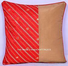 Indian Silk Handmade Patchwork Cushion Cover Pillow Case Home Decor Sofa Throw