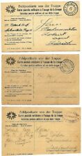 Switzerland: 3 Postal Stationery military, 2 types dif, I war world, EBFM26