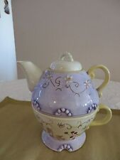 TRACY PORTER TEAPOT OF ONE TEAPOT & CUP COMBO *NEW WITHOUT BOX*