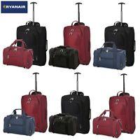 Ryanair Hand Cabin 40x20x25 & 2nd Baggage Fits 55x40x20 Luggage Set