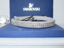 "GENUINE Signed SWAROVSKI ""Delight"" Silver Shade Narrow Headband - #910944"