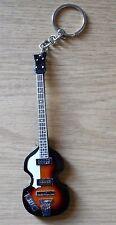 The Beatles 10cm Wooden Guitar Key Chain Macartney/Lennon