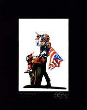 Nicky Hayden Artist Proof Lithograph With COA Titled American Revolution VI