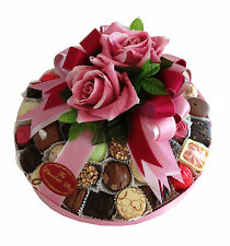 """Assorted Hand Made Belgian Chocolate Platter 10"""" Luxury gift for any occasion"""