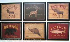 Lodge Wall Decor Animals rustic country cabin Made in the USA