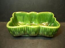VINTAGE GREEN UPCO RECTANGULAR PLANTER / DISH   USA - 1068