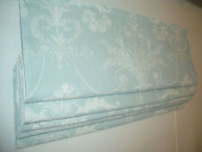 LAURA ASHLEY ROMAN BLIND MADE TO MEASURE JOSETTE DUCK EGG CHILD SAFE TRACKS -MTM