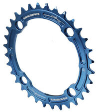 Race Face Single Narrow Wide 1x MTB Chainring - 104mm BCD 32t Blue